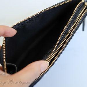 Coach Bags - NWT Coach Double Corner Zip Wallet in Black
